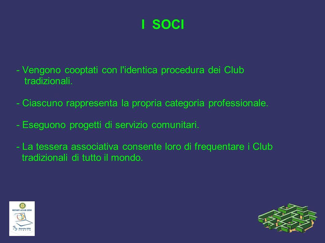I SOCI - Vengono cooptati con l identica procedura dei Club