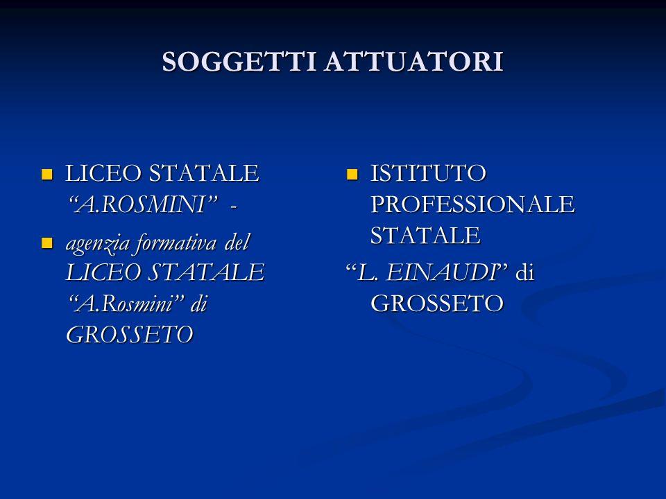 SOGGETTI ATTUATORI LICEO STATALE A.ROSMINI -