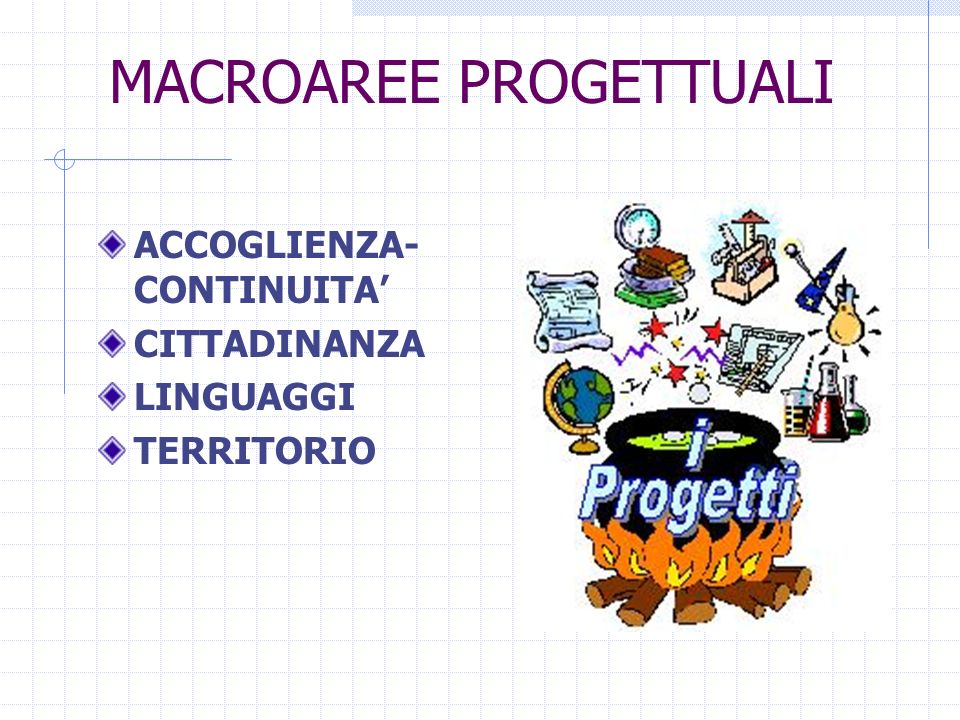 MACROAREE PROGETTUALI
