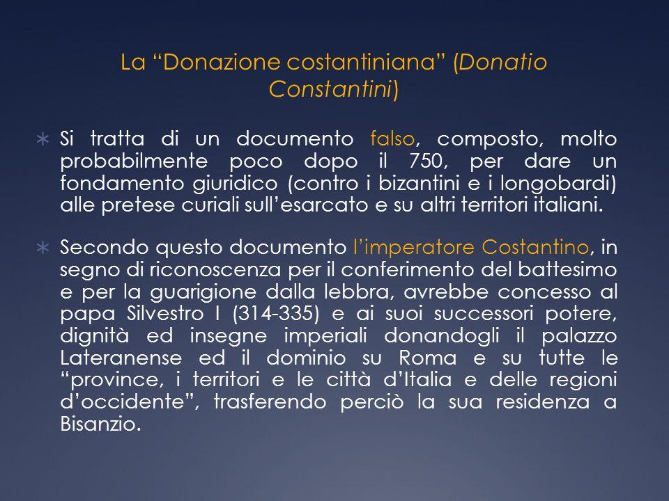 La Donazione costantiniana (Donatio Constantini)