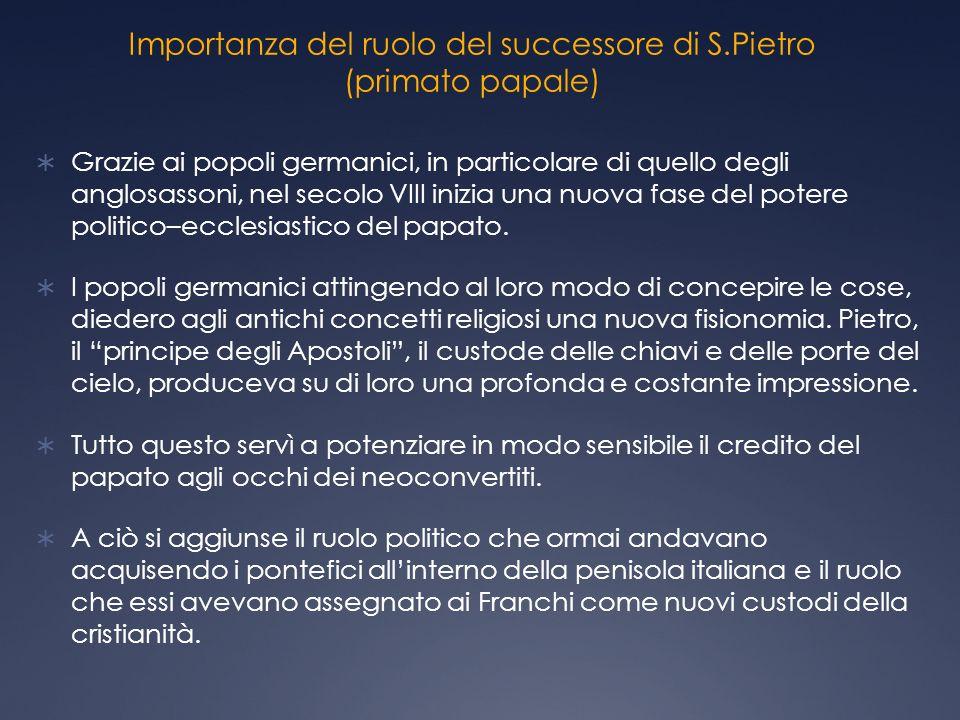 Importanza del ruolo del successore di S.Pietro (primato papale)