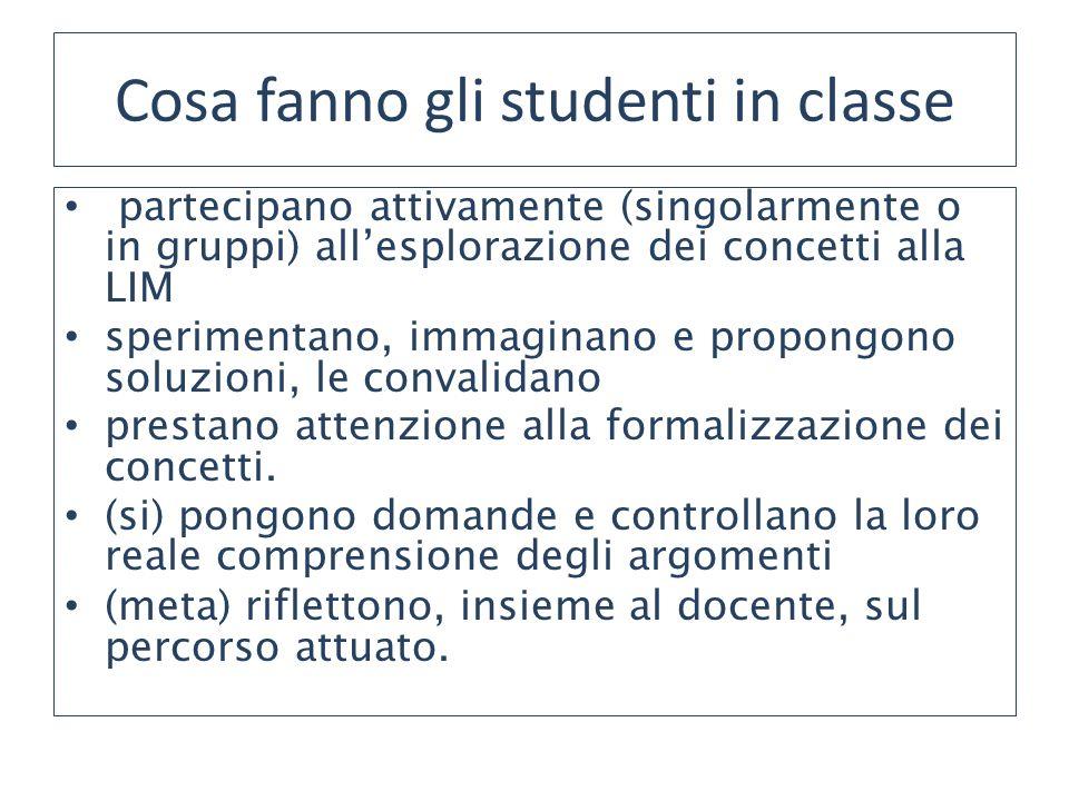 Cosa fanno gli studenti in classe