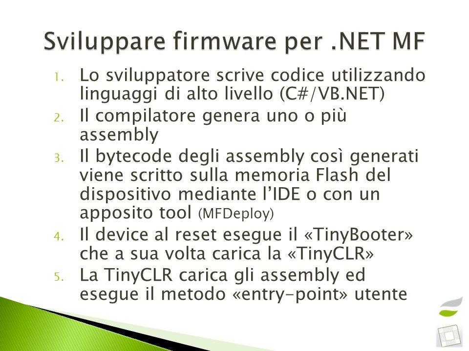 Sviluppare firmware per .NET MF