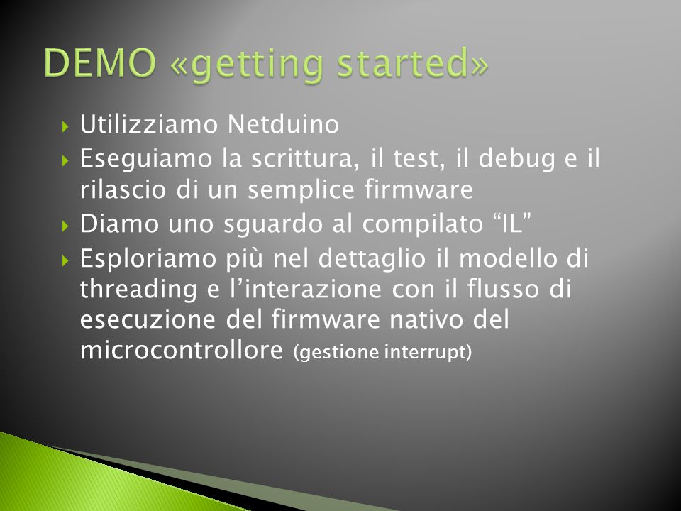 DEMO «getting started»