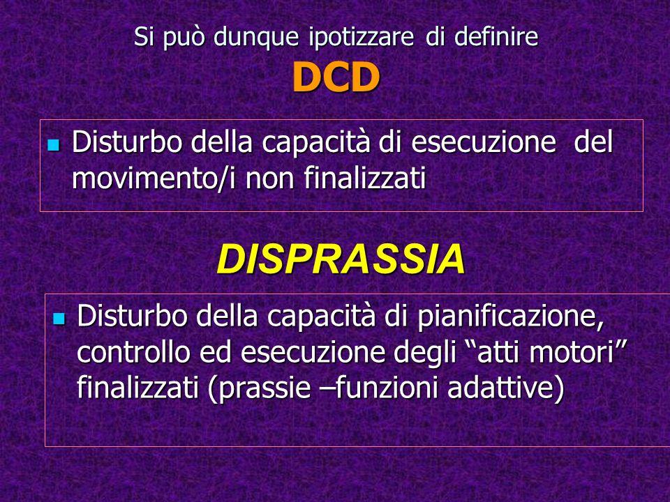 Si può dunque ipotizzare di definire DCD