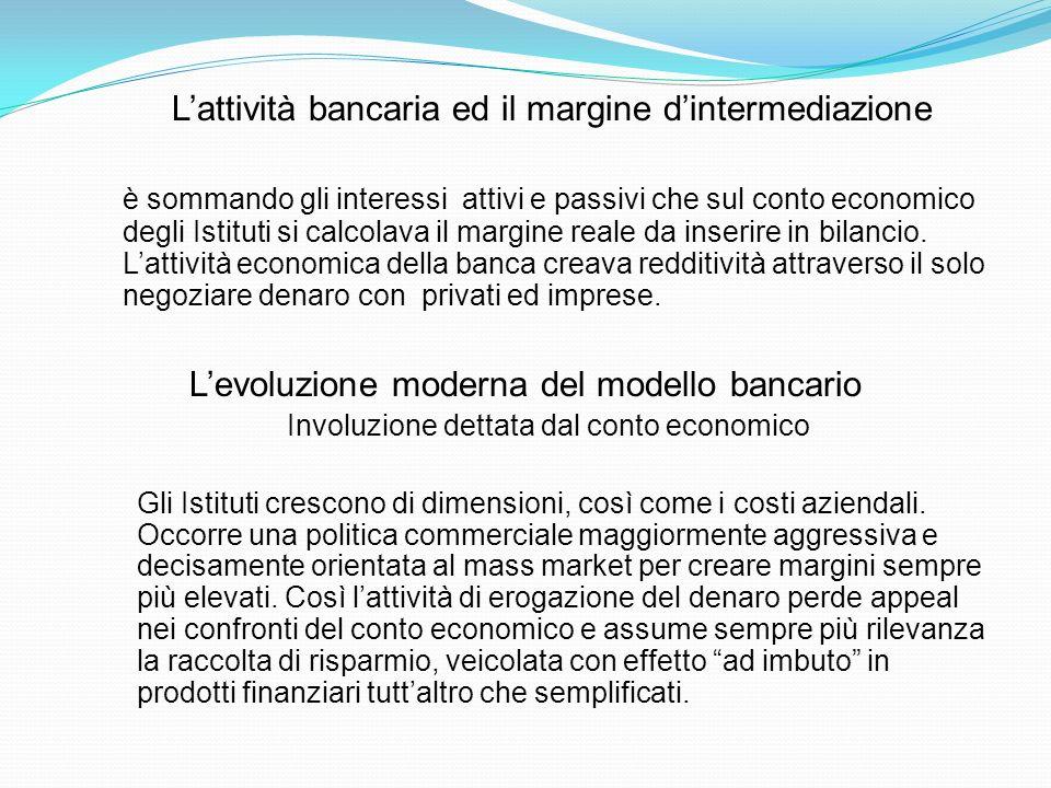 L'attività bancaria ed il margine d'intermediazione