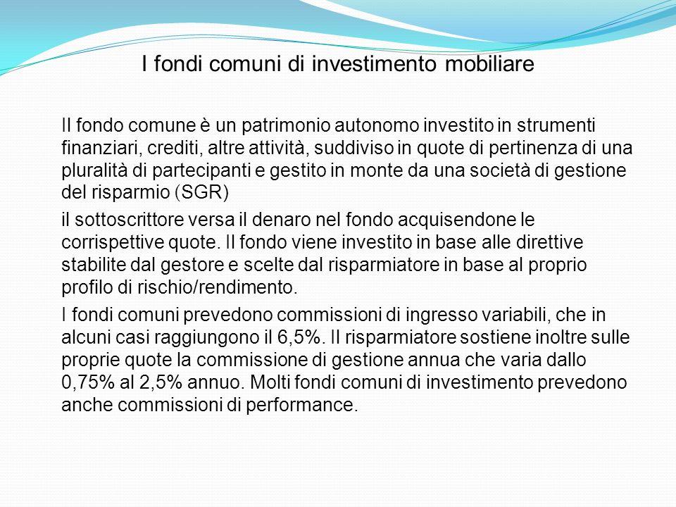 I fondi comuni di investimento mobiliare