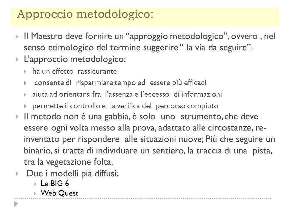 Approccio metodologico: