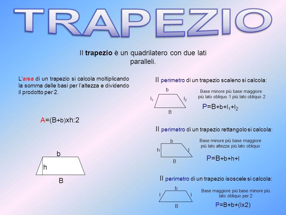 TRAPEZIO Il trapezio è un quadrilatero con due lati paralleli.