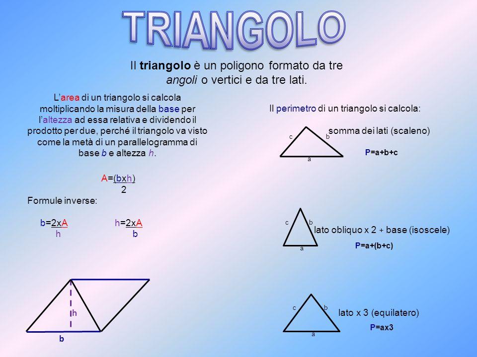 lato obliquo x 2 + base (isoscele)