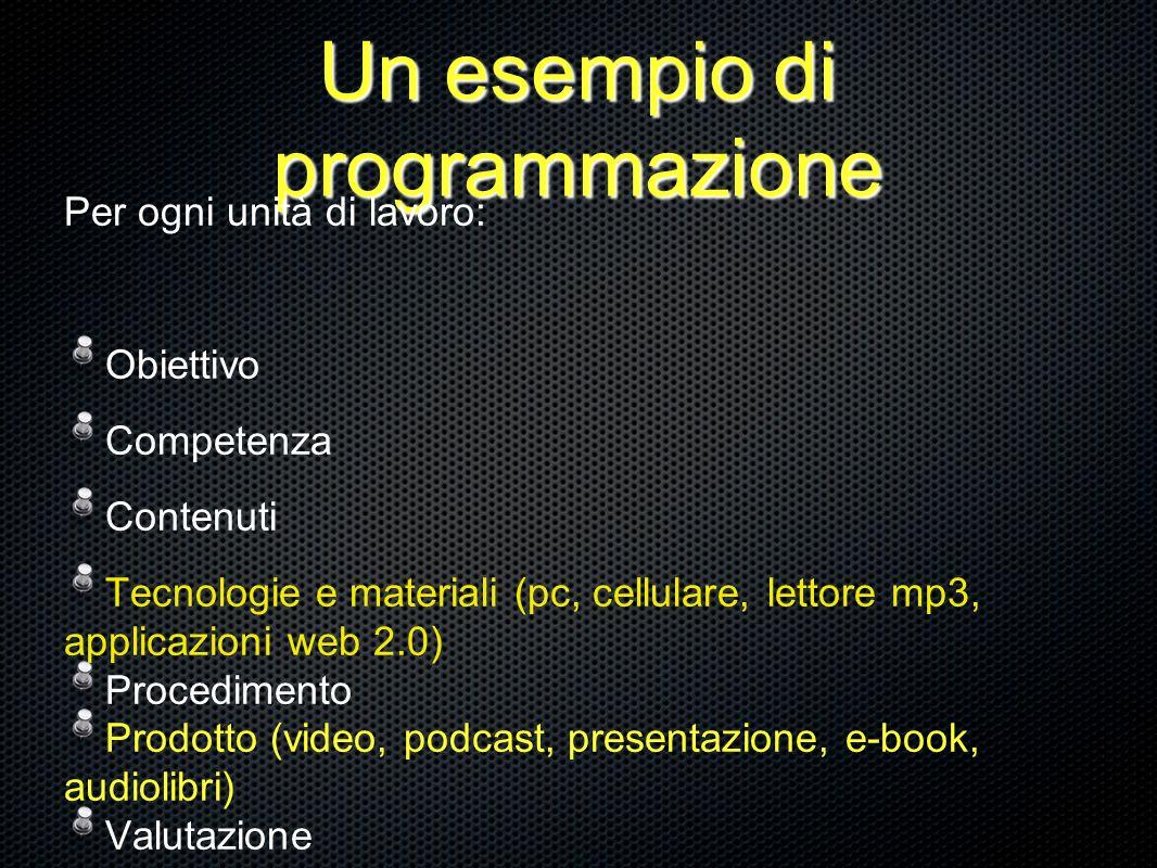 Un esempio di programmazione