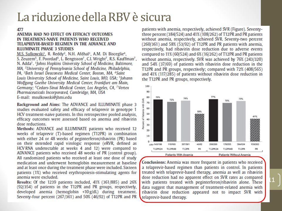 La riduzione della RBV è sicura