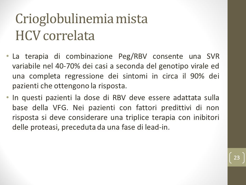 Crioglobulinemia mista HCV correlata