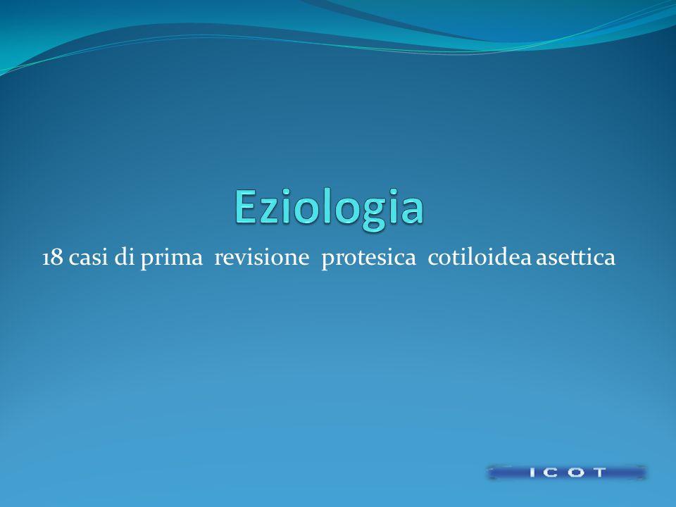 18 casi di prima revisione protesica cotiloidea asettica