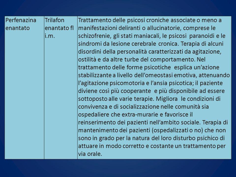 Perfenazina enantato Trilafon enantato fl i.m.