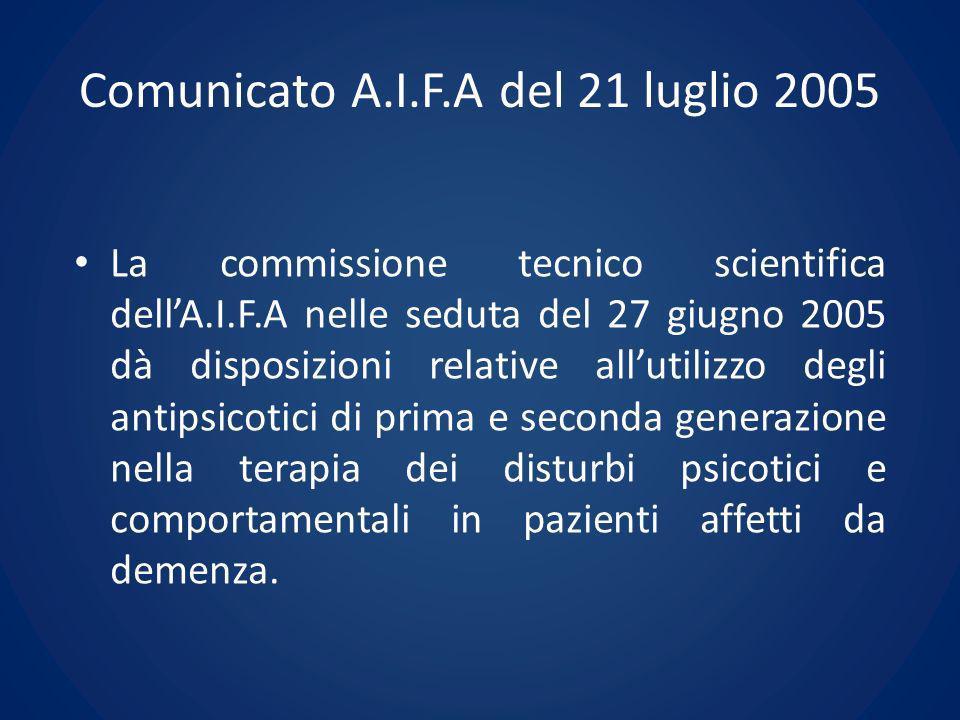 Comunicato A.I.F.A del 21 luglio 2005