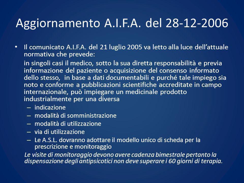 Aggiornamento A.I.F.A. del 28-12-2006