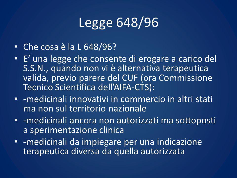 Legge 648/96 Che cosa è la L 648/96