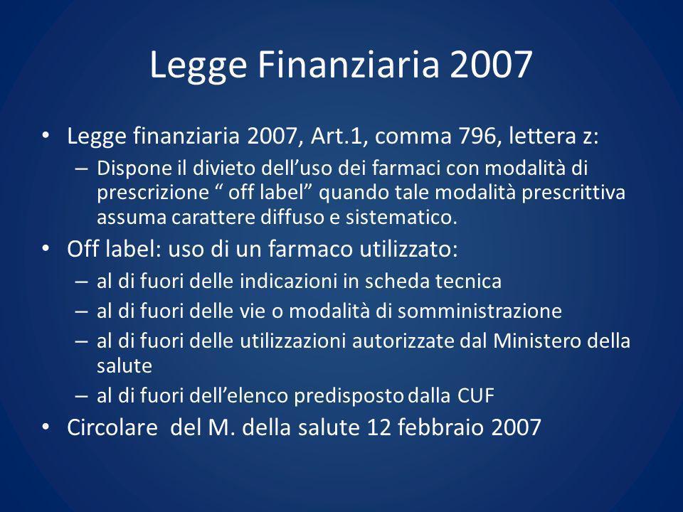 Legge Finanziaria 2007 Legge finanziaria 2007, Art.1, comma 796, lettera z: