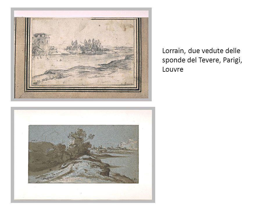Lorrain, due vedute delle sponde del Tevere, Parigi, Louvre