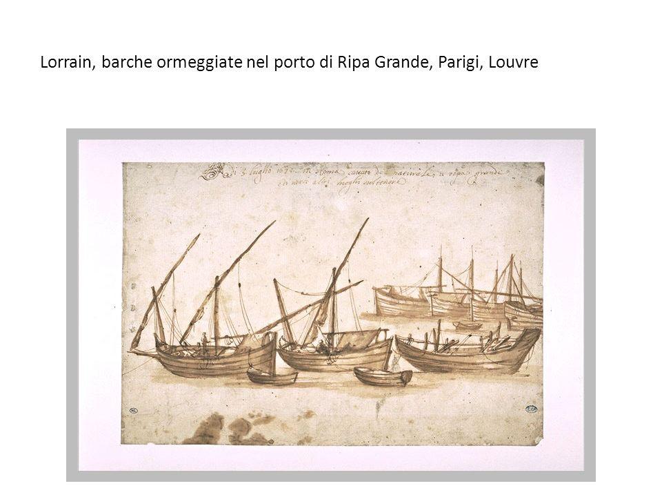 Lorrain, barche ormeggiate nel porto di Ripa Grande, Parigi, Louvre