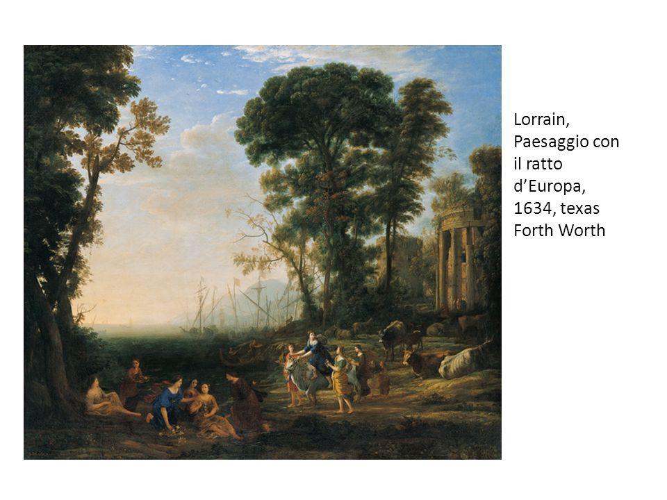 Lorrain, Paesaggio con il ratto d'Europa, 1634, texas Forth Worth