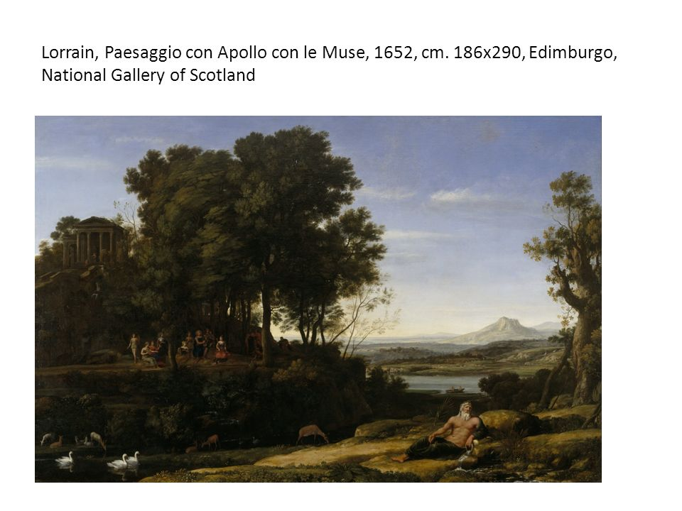 Lorrain, Paesaggio con Apollo con le Muse, 1652, cm