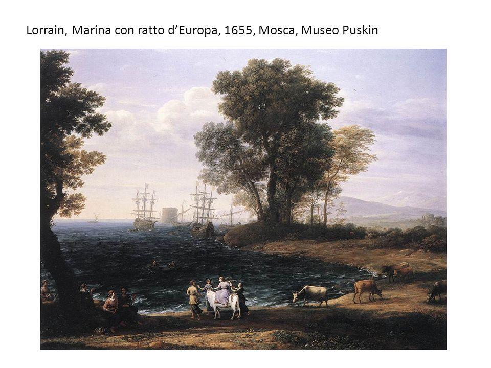 Lorrain, Marina con ratto d'Europa, 1655, Mosca, Museo Puskin