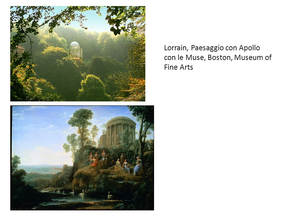 Lorrain, Paesaggio con Apollo con le Muse, Boston, Museum of Fine Arts