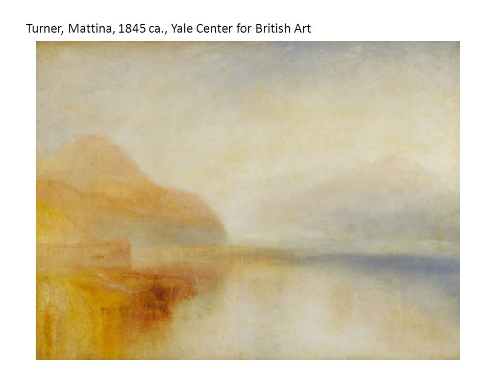 Turner, Mattina, 1845 ca., Yale Center for British Art