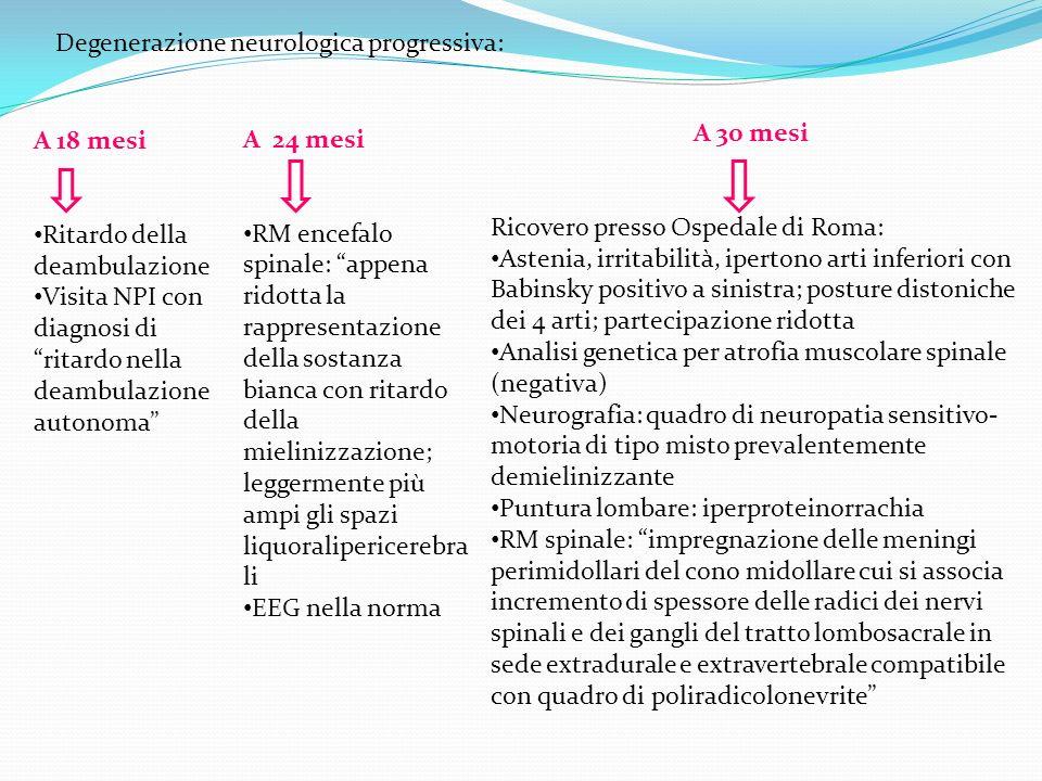 Degenerazione neurologica progressiva: