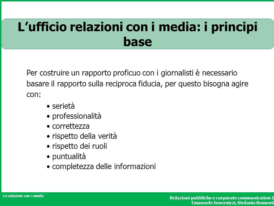 L'ufficio relazioni con i media: i principi base