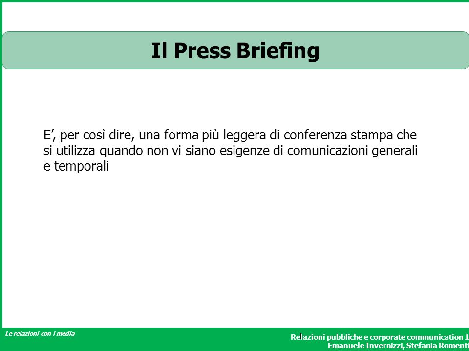 Il Press Briefing