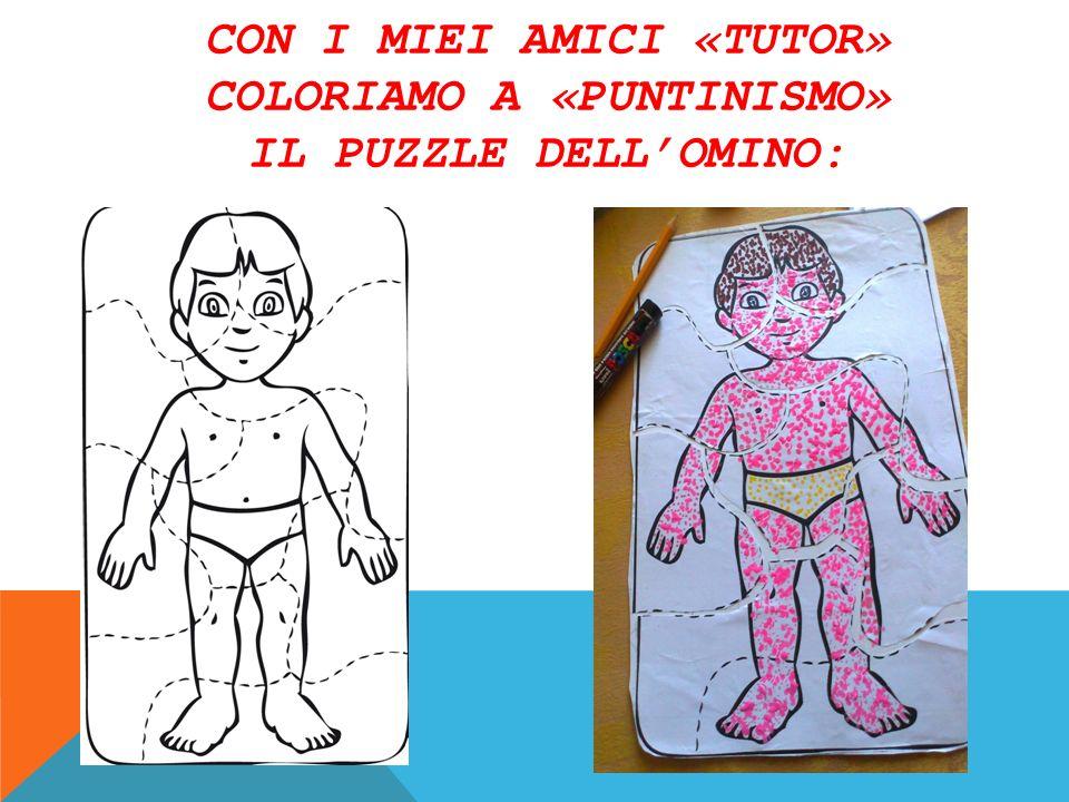 Con i miei amici «tutor» coloriamo a «puntinismo» il puzzle dell'omino: