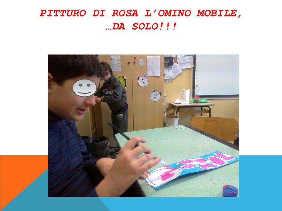 Pitturo di rosa l'omino mobile, …da solo!!!