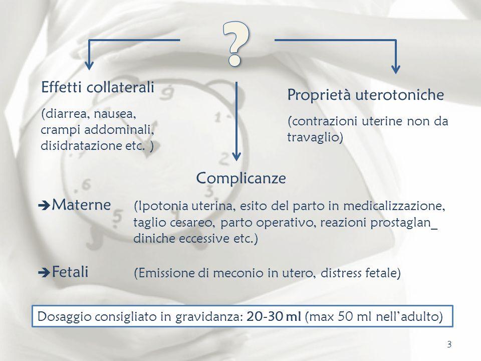 Effetti collaterali Proprietà uterotoniche Complicanze