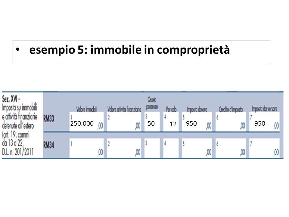 esempio 5: immobile in comproprietà