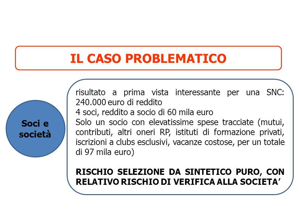 IL CASO PROBLEMATICO Soci e società
