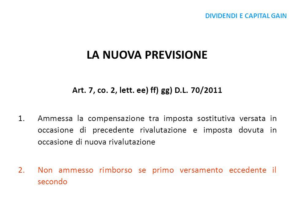 Art. 7, co. 2, lett. ee) ff) gg) D.L. 70/2011
