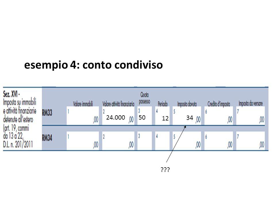esempio 4: conto condiviso