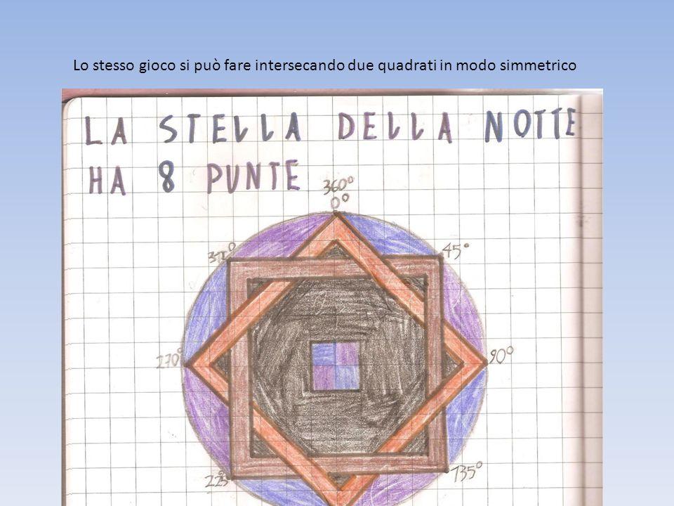 Lo stesso gioco si può fare intersecando due quadrati in modo simmetrico
