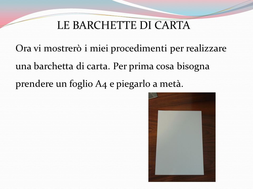 LE BARCHETTE DI CARTA