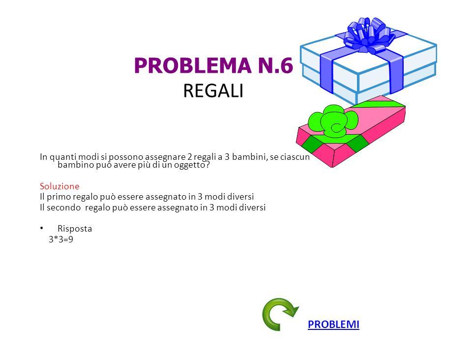 PROBLEMA N.6 REGALI PROBLEMI