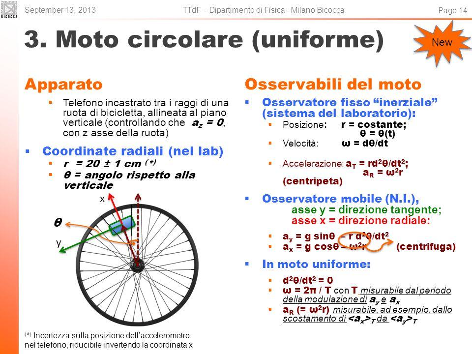 3. Moto circolare (uniforme)