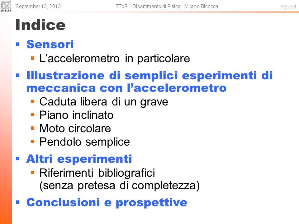 TTdF - Dipartimento di Fisica - Milano Bicocca
