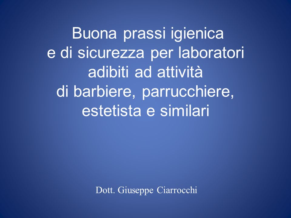 Dott. Giuseppe Ciarrocchi