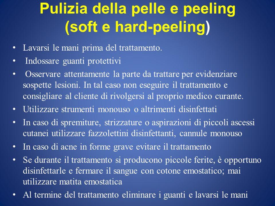 Pulizia della pelle e peeling (soft e hard-peeling)