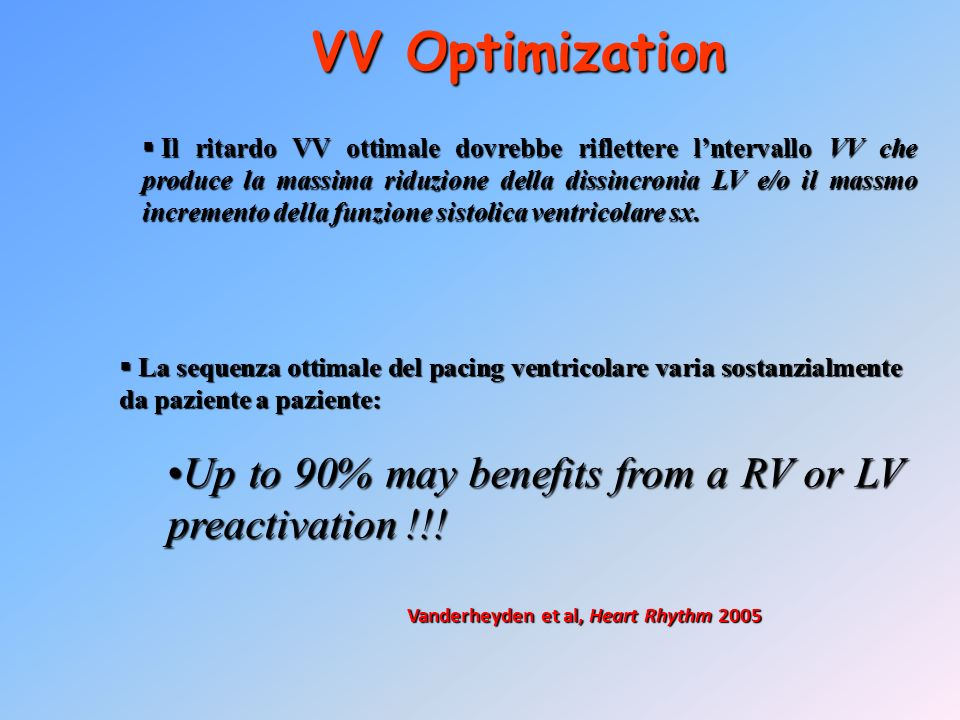 VV Optimization