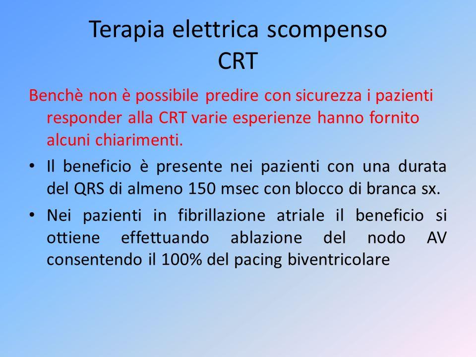 Terapia elettrica scompenso CRT