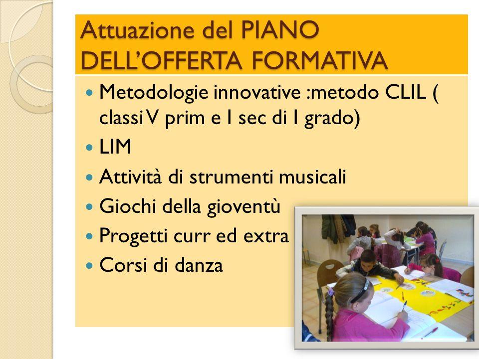 Attuazione del PIANO DELL'OFFERTA FORMATIVA